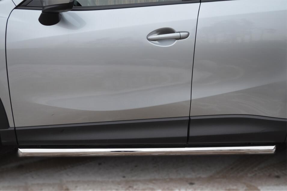 Защита порогов Mazda CX-5 2011- d63 (вариант 1) M5T-0011361