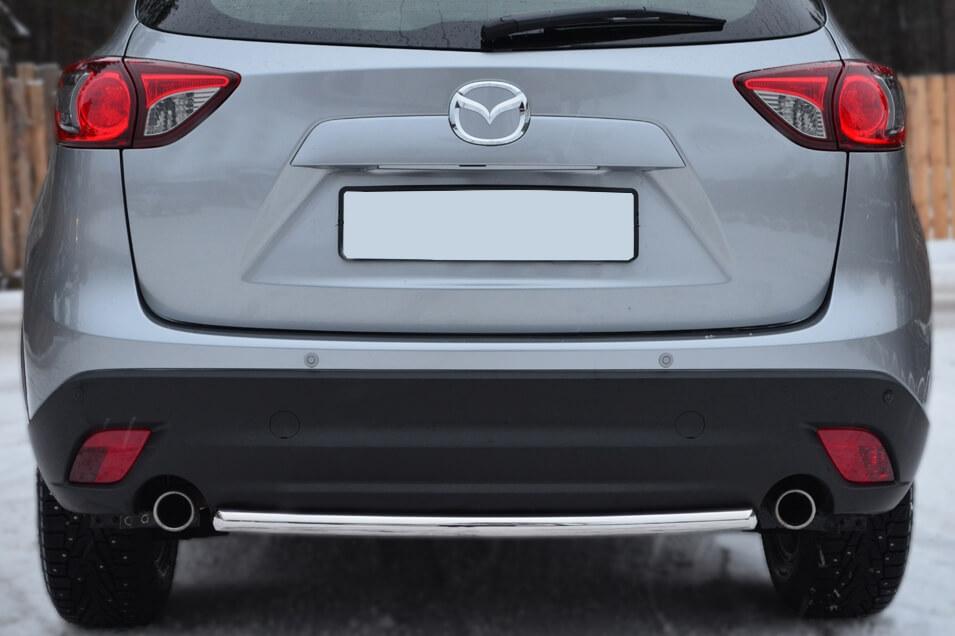Защита заднего бампера Mazda CX-5 2011- d42 (дуга) M5Z-001139, фото 2