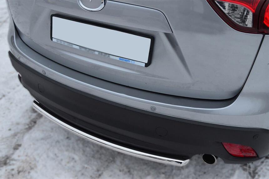 Защита заднего бампера Mazda CX-5 2011- d42 (дуга) M5Z-001139, фото 3