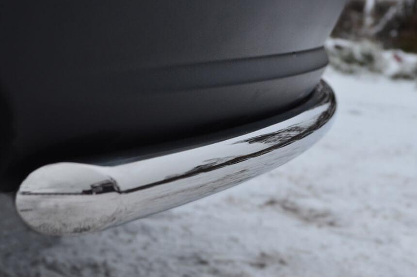 Защита заднего бампера Mazda CX-5 2011- d42 (дуга) M5Z-001139, фото 4