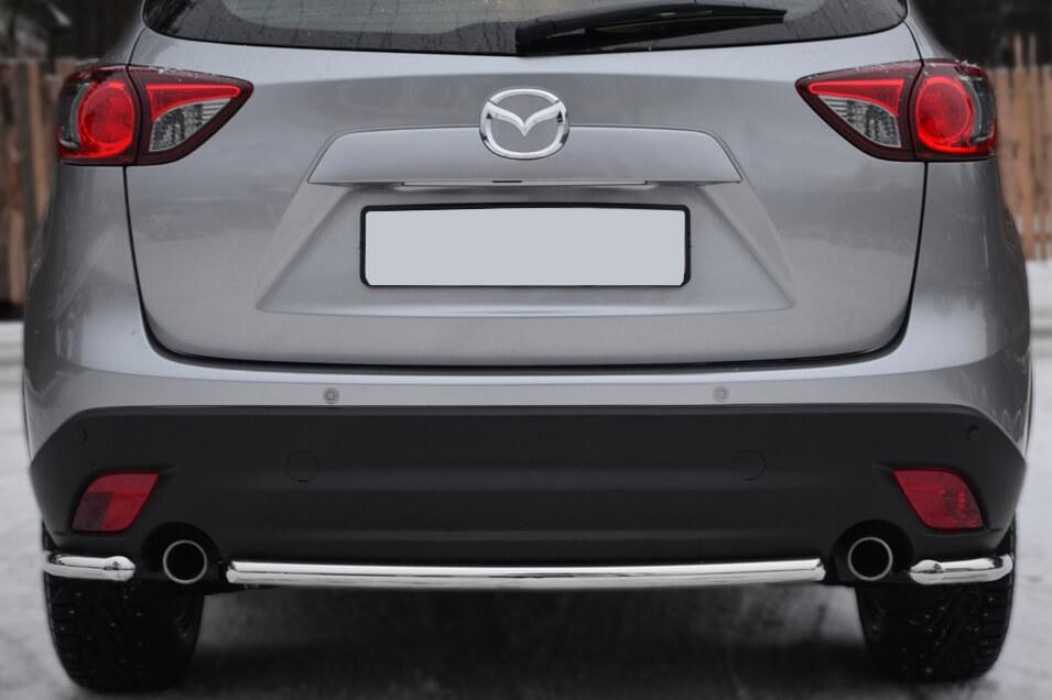 Защита заднего бампера уголки Mazda CX-5 2011- d42 M5Z-001141, фото 2