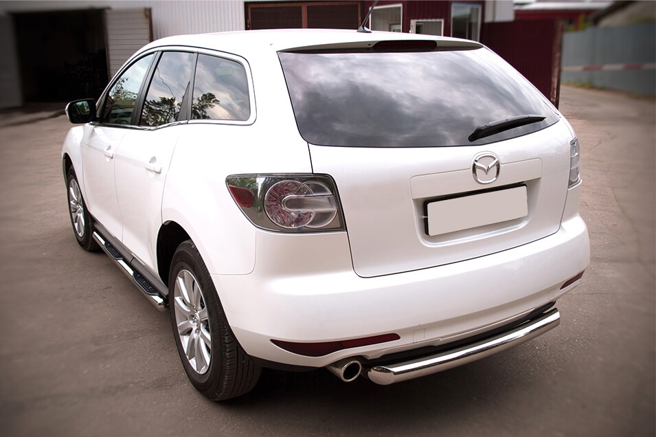 Защита заднего бампера Mazda CX-7 2010 d76 (дуга) MC7Z-000647, фото 5