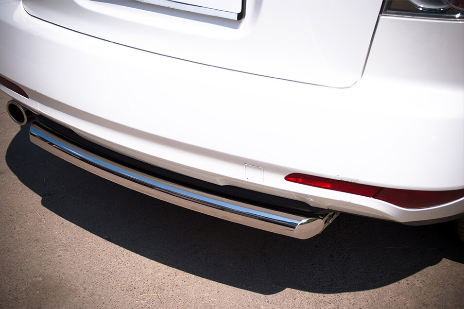 Защита заднего бампера Mazda CX-7 2010 d63 MC7Z-000648, фото 2