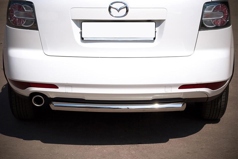 Защита заднего бампера Mazda CX-7 2010 d63 MC7Z-000648, фото 3