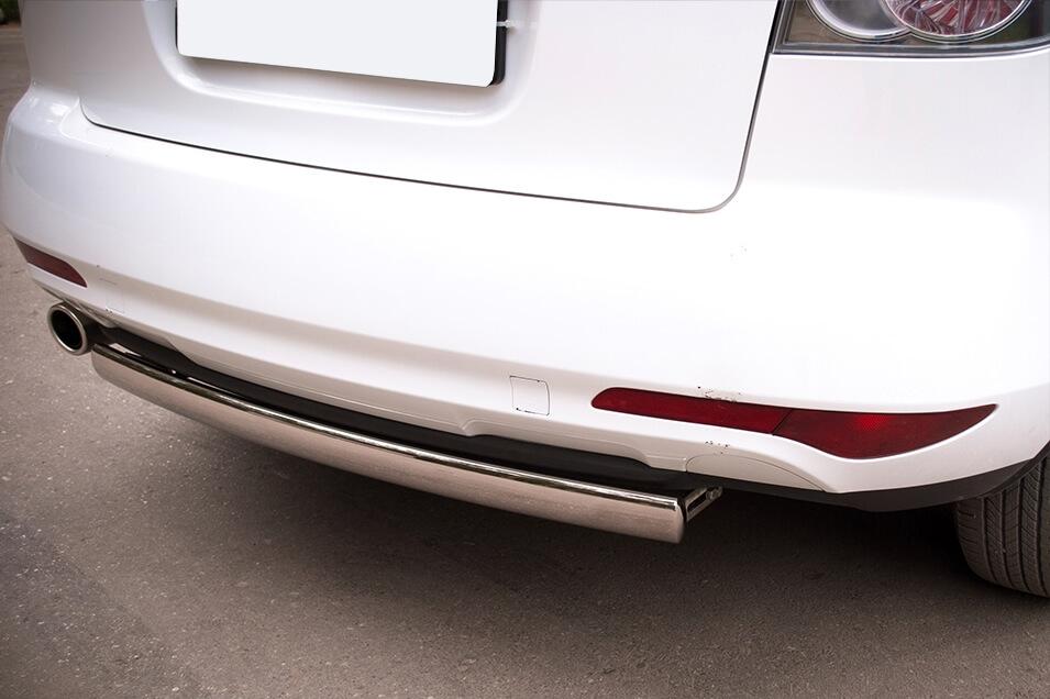 Защита заднего бампера Mazda CX-7 2010 d75х42 MC7Z-000649, фото 2