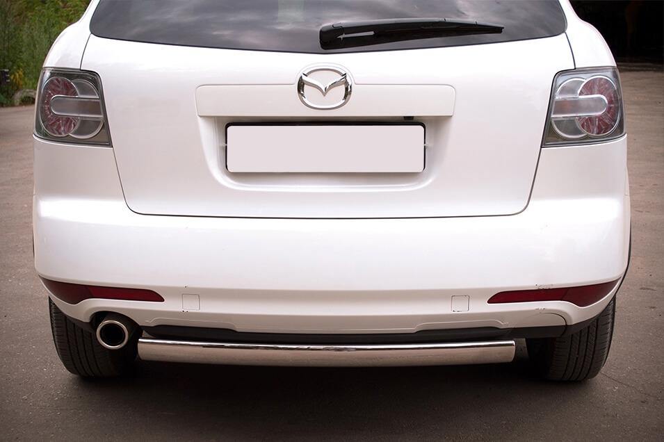 Защита заднего бампера Mazda CX-7 2010 d75х42 MC7Z-000649, фото 3