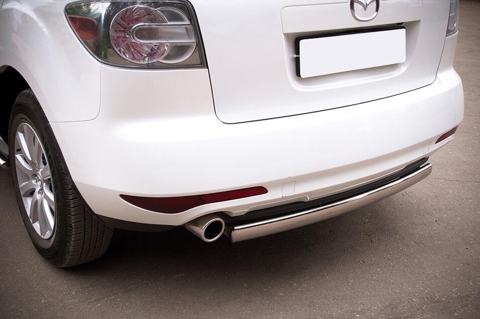 Защита заднего бампера Mazda CX-7 2010 d75х42 MC7Z-000649, фото 4