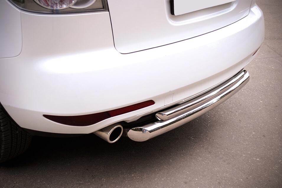 Защита заднего бампера Mazda CX-7 2010 d76/42 (дуга) MC7Z-000650, фото 4