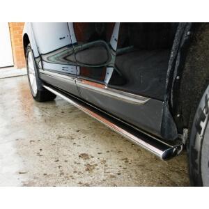 Пороги труба Mazda CX-9 2006 – 2012 (овал)