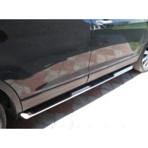 Пороги труба с накладками Mazda CX-9 2006 – 2012 (вариант 1)