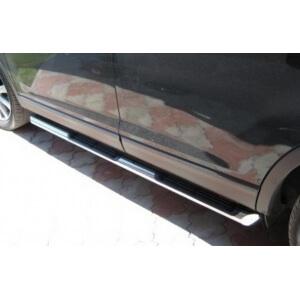 Пороги труба с накладками Mazda CX-9 (вариант 2)