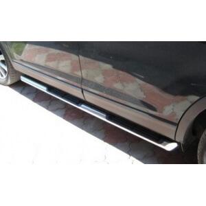 Пороги труба с накладками Mazda CX-9 2006 – 2012 (вариант 3)