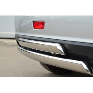 Защита заднего бампера Mitsubishi ASX 2013 75х42/75х42 овалы (дуга) MASZ-001328