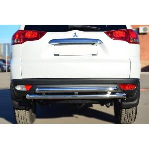 Защита заднего бампера Mitsubishi Pajero Sport 2013 d63 (дуга) d63 (дуга) MPSZ-001583