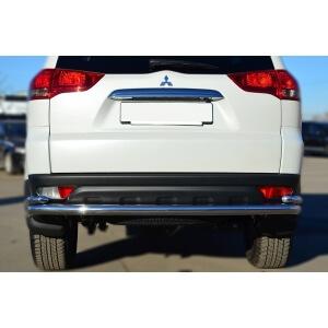 Защита заднего бампера Mitsubishi Pajero Sport 2013 d63 (волна) d42 (уголки) MPSZ-001584