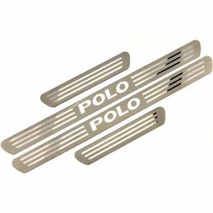 Ультратонкие накладки на пороги Volkswagen Polo