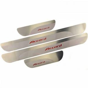 Ультратонкие накладки на пороги Honda Accord 9