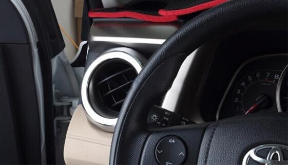 Хром окантовки воздуховодов Toyota Rav4, фото 3