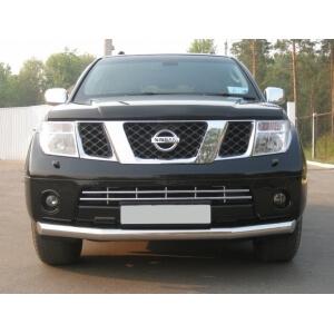Защита переднего бампера Nissan Pathfinder 4 (2004-2009) d76 NPZ-000352