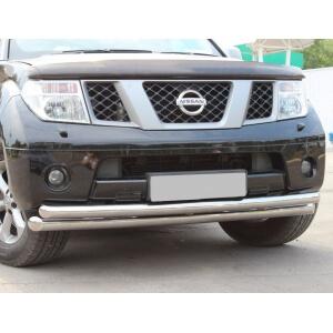 Защита переднего бампера Nissan Pathfinder 4 d76/63 (дуга) NPZ-000353