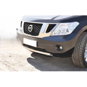 Защита переднего бампера Nissan Patrol 2010 d75х42 PAZ-000786