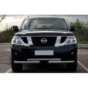 Защита переднего бампера Nissan Patrol 2010 d76/76 ступень PAZ-000892