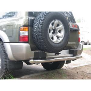 Защита заднего бампера Nissan Patrol Y61 98-03г. d76 PYZ-000097