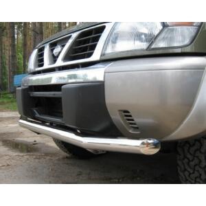 Защита переднего бампера Nissan Patrol Y61 98-03г. d76 PYZ-000098