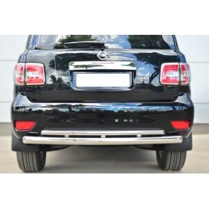 Защита заднего бампера Nissan Patrol 2014- d76 (дуга) d42 (дуга) PATZ-001734