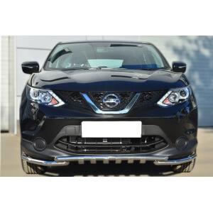 Защита переднего бампера Nissan Qashqai 2014- d42 (секции) d42 (уголки)+клыки NQQZ-001784