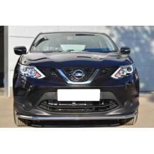 Защита переднего бампера Nissan Qashqai 2014- d42 (секции) NQQZ-001785
