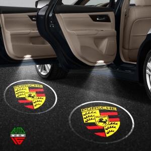 Лазерная проекция с логотипом Porsche