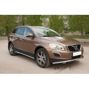 Защита порогов Volvo XC 60 2008-2013 d42 VXCT-002076