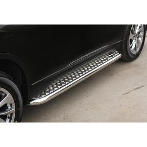 Пороги с листом d42, Nissan X-Trail 2015-