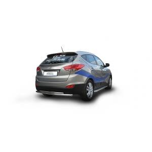 Защита заднего бампера Hyundai ix35 (двойная)
