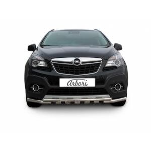Защита переднего бампера Opel Mokka 2012 – 2016 (двойная с профильной ЗК)