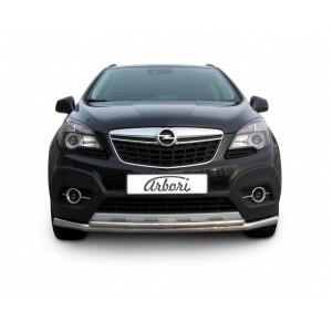 Защита переднего бампера Opel Mokka 2012 – 2016 (двойная, длинная)