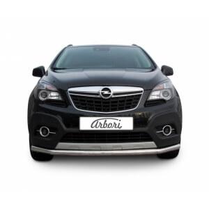 Защита переднего бампера Opel Mokka 2012 – 2016 (длинная)