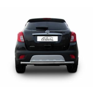 Защита заднего бампера Opel Mokka до рестайлинга (двойная радиусная)