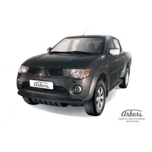 Защита переднего бампера Mitsubishi L200 2006 – 2014 (черная)