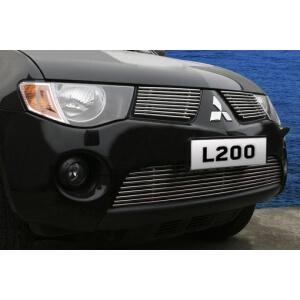 """Декоративные элементы решётки радиатора d10 (2 элемента из 9 трубочек) """"Mitsubishi L200"""" 2006- хром, MITL.92.2104"""