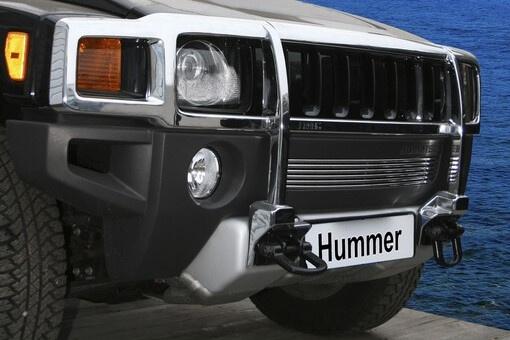 """Декоративный элемент воздухозаборника d10 (1 элемент из 6 трубочек) """"Hummer H3"""" хром, HUMH.97.2133"""
