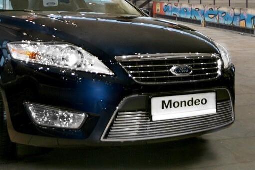 """Декоративный элемент воздухозаборника d10 (1 элемент из 10 трубочек) """"Ford Mondeo"""" 2007- хром, FMON.97.2115"""