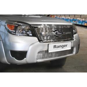"""Декоративный элемент решетки радиатора d10 (1 элемент из 11 трубочек) """"Ford Ranger"""" 2007-2011 хром, FRAN.92.2120"""