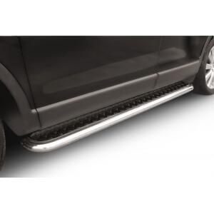 """Пороги с листом Mazda CX-9 2006 – 2012 (чёрный """"квинтет"""")"""