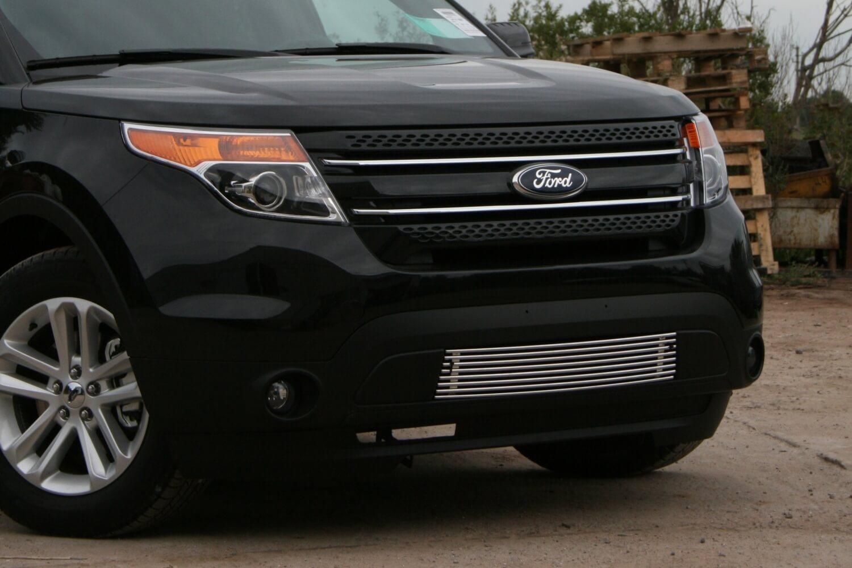 """Декоративный элемент воздухозаборника d10 (1 элемент из 8 трубочек) """"Ford Explorer"""" 2011-2015 хром"""