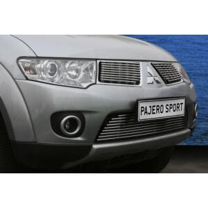 """Декоративный элемент воздухозаборника d10 (1 эл. из 9 трубочек) """"Mitsubishi Pajero Sport"""" 2008- хром, MIPS.97.2274"""