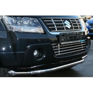 Декоративные элем. решётки радиатора  d10  (5 трубочек) Suzuki Grand Vitara 2008-2012 (3, 5 дверей), SZGV.91.2916
