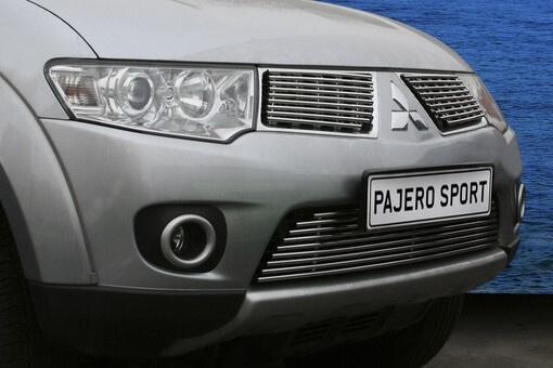 """Декоративный элемент воздухозаборника (1 элемент из 9 трубочек) """"Mitsubishi Pajero Sport"""" 2006-, MIPS.96.2995"""