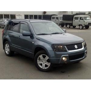 Защита передних фар Suzuki Grand Vitara 2005 – 2008 (темная)